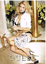 Publicité Advertising 2011 Pret à porter vetements sac à main Guess