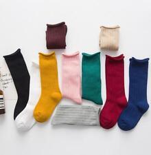Cotton Soft Girls Baby Toddler Knee High Socks Tights Leg Warmer Stockings
