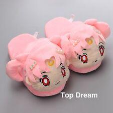 930de8ab4a07 Sailor Moon Chibiusa Plush Slipper Winter Home Warm Shoes Cute Girls Gift  11