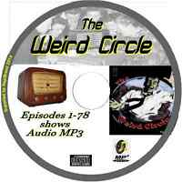 The Weird Circle 78 OTR Old Time Radio Episodes Audio MP3 on CD