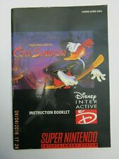 MAUI MALLARD IN COLD SHADOW - SUPER NINTENDO SNES *INSTRUCTION MANUAL ONLY*