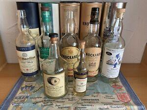 Leere Whisky Flaschen Glenturret oder Teaninich Rare Malt Anbruchflasche .