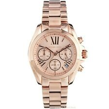 New Michael Kors Ladies Watch Bradshaw Rose Gold Tone Chrono MK5799 - Melb