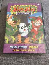 JIN JIN Y SUS AMIGOS TEMPORADA 2 VOLUMEN 2 - DVD - 3 CAPITULOS NEW SEALED NUEVO
