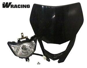 SP Moto Pit Bike headlight unit W Racing enduro light Universal Black Motorbike