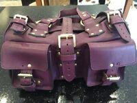 Stunning Ladies Purple Leather Roxanne Mulberry Handbag Authentic