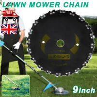 """Chain Saw Tooth BrushCutter Grass Blade Heavy Duty 9"""" for Gas/Electric Trimmer N"""