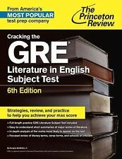Graduate School Test Preparation: Cracking the GRE Literature in English Subjec…