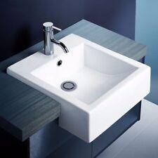New Semi recessed Square basin Bathroom Vanity Caroma Liano White 661205W 0TH