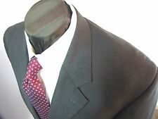 Kilburne and Finch 3 btn gray tic weave wool blend business suit 44 R
