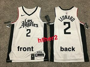 Nike Kawhi Leonard City Edition Authentic 2020 Los Angeles Clippers Jersey M-2XL