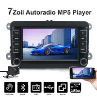 "7"" Autoradio Stereo Mit Bluetooth USB CANBUS +Kamera Für VW GOLF 5 Passat Tiguan"