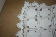 "Very Lovely Vintage  Hand Worked Crochet Heavy Cotton Bedspread  84 x 100""  4980"