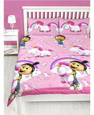 Despicable Me Daydream Fluffy Unicorn DOUBLE QUEEN bed QUILT DOONA COVER Set