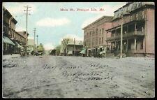 1910 PRESQUE ISLAND  Maine Postcard Main Street