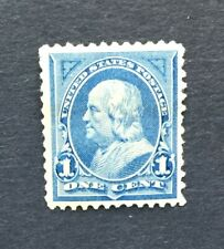 mystamps  US 247, 1 cent Franklin 1894, Mint HR, OG