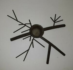 Dark BrownMetal Twig Branch Taper Candle Holder