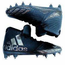 New listing Adidas Freak X Carbon Triple Black Mid Football Lacrosse Cleats Shoes Size 17