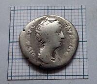 DIVA FAUSTINA SR. 138-141 AD. Wife of Antoninus Pius.Roman Silver Denarius #0864