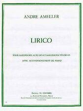 Lirico pour Saxophone alto mi b et Saxophone ténor si b avec accompagnement de p