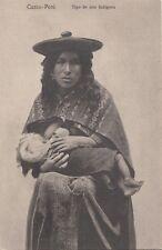 B79268 cuzco peru types una indigena breastfeeding child  peru front/back image