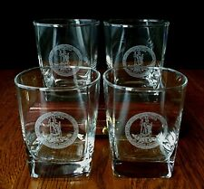 Four Commonwealth of Virginia Seal Glass Tumblers - Glasses - State Seal Tumbler