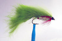 1 x Mouche streamer ZONKER OLIVE H8/10/12 fly truite trout fliegen mosca