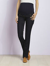 Straight legs dark over the bump blue maternity jeans, size 8, 78cm long, NWOT