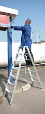 Alumiumleiter 2 X 7 Stufen Stehleiter Tritt Industrie
