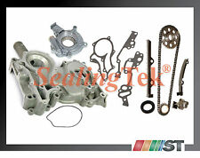 Fit 1983-84 Toyota 2.4L 22R Engine Timing Chain Gear Kit w/ Cover + Oil Pump set