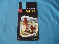 467 H FALLER 1962/63 FOLLETO 12 PÁGINAS CASAS AVIONES MAQUETAS FIGURAS