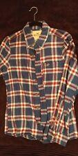 Holister Men small S Long Sleeve Button Front Plaid Cotton Flannel Shirt