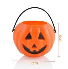 New Halloween Pumpkin Bucket Party Props Trick Treat Cosplay Pouch Holder Toy