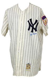 Yogi Berra Signed New York Yankees Mitchell & Ness Authentic Jersey Steiner