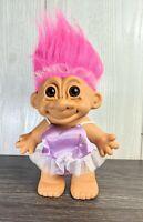 """BALLERINA - 8"""" Russ Troll Doll - Lavender Tutu, Pink Hair"""