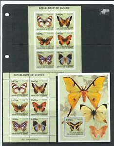 Guinea 2002 Issue Of  Butterflies, Miniature & Souvenir Sheets . MNH