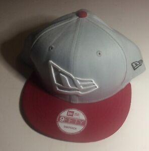 New Era NE 9 Fifty Baseball Cap Red Gray White Black New With Defect