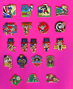 1996 OLYMPIC PINS CABBAGE PATCH PINS OLYMPIC KIDS TEAM USA PICK 1-2-3 OR ALL 20