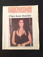 Sonny & and CHER 1990 Heart Of Stone Erie, Pennsylvania Newspaper Supplement