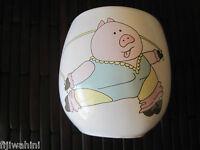 VINTAGE SATURDAY KNIGHT BATHROOM CUP AEROBICS JUMPROPE PIG GLASS