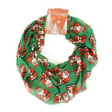 Santa Claus Christmas Scarf Infinity 72x32 Holiday Accessory