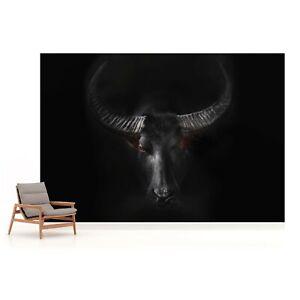 312x219cm Wall mural photo wallpaper Wild Animals black paper non-woven