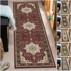Traditional Oriental Non Slip Hall Runner Rug For Hallway Kitchen Floor Carpet