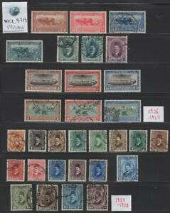 WC1_9719. EGYPT. Nice lot of 1926-28 stamps w. cplt. sets. Used & MH