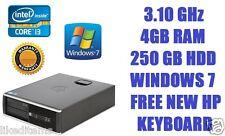 HP Compaq 8200 Elite Core i3 3.10 GHz, 250 GB 4 GB PC Desktop Windows 7