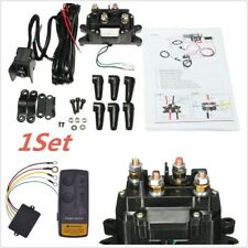 12V Wireless Winch Remote Solenoid Relay Contactor +Winch Rocker Thumb Switch