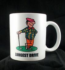 Golf Mug- Longest Drive- Comic- Award- 11 Ounce
