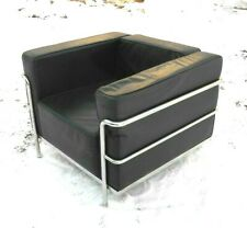 VINTAGE LE CORBUSIER STYLE CHROME AND LEATHER ? ARMCHAIR