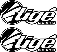 Tige Boat logo Decal/Sticker -- 1 PAIR