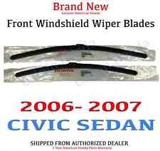 Genuine OEM Honda Civic 4Dr Sedan Front Windshield Wiper Blades 2006 - 2007